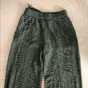 MISSONI green knit flare pants
